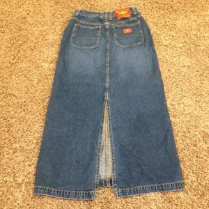 Lucky brand long denim skirt